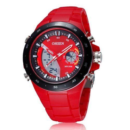 Relógio Masculino Ohsen AnaDigi Esporte AD2802 Vermelho