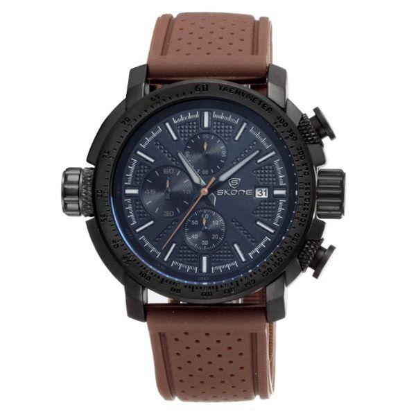 Relógio Masculino Skone Analógico 5145EG Preto