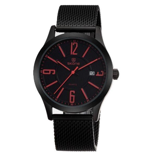 Relógio Masculino Skone Analógico 7347BG Vermelho