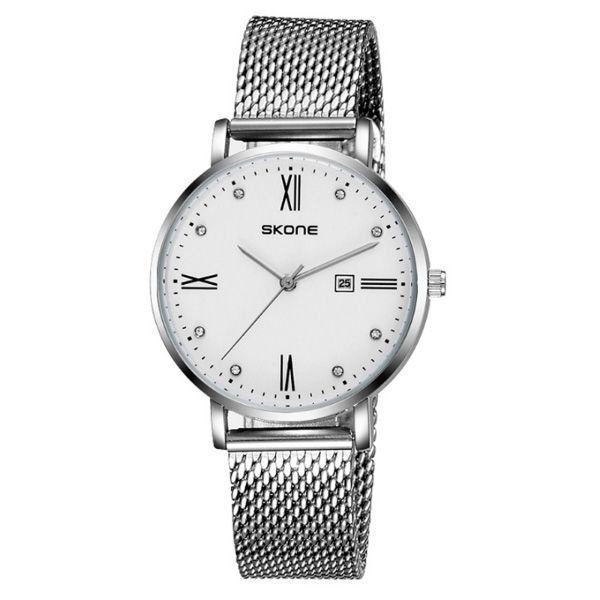 Relógio Masculino Skone Analógico 7392BL Branco