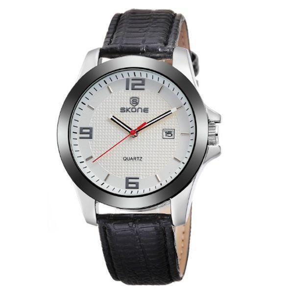 Relógio Masculino Skone Analógico 9180BR Branco