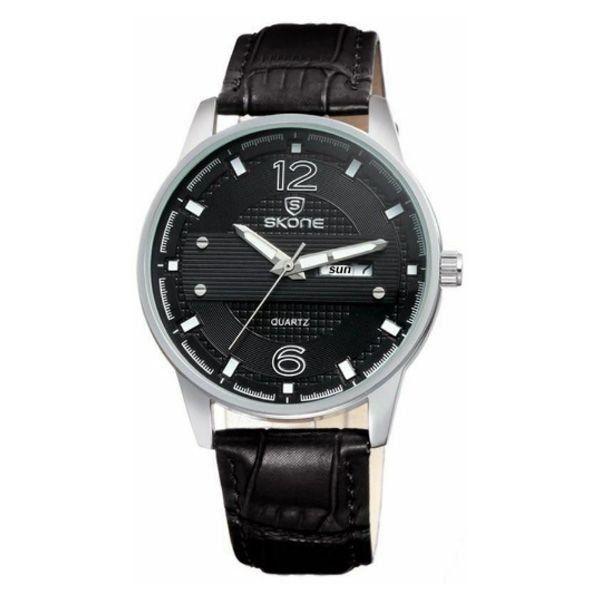 Relógio Masculino Skone Analógico 9275AG Preto