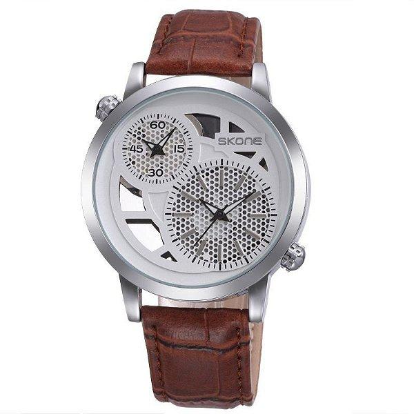 Relógio Masculino Skone Analógico Casual 9248EG Marrom