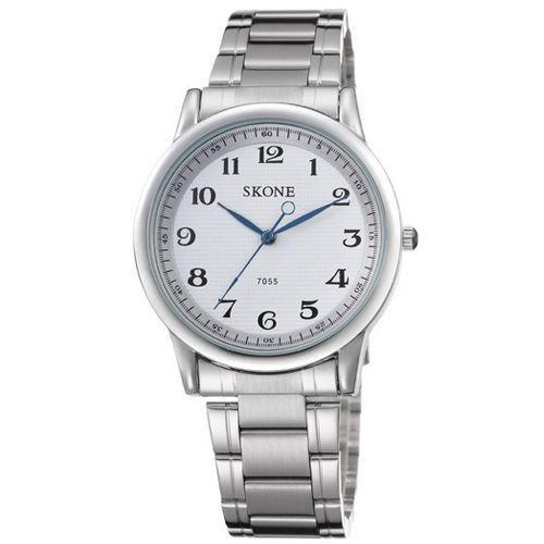 Relógio Masculino Skone Analógico Casual 7055 Prata