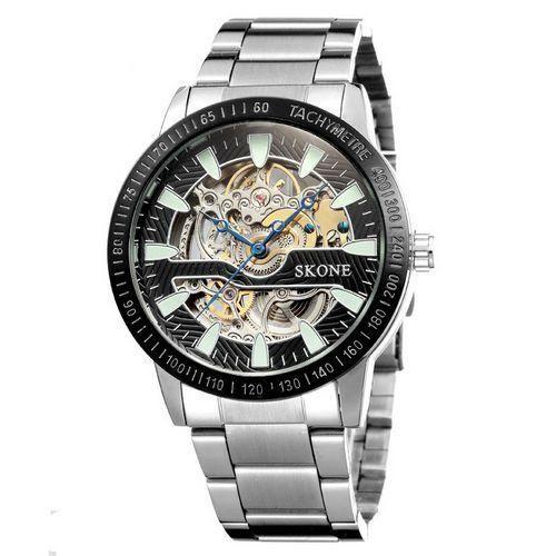 Relógio Masculino Skone Analógico Casual S80010 Prata