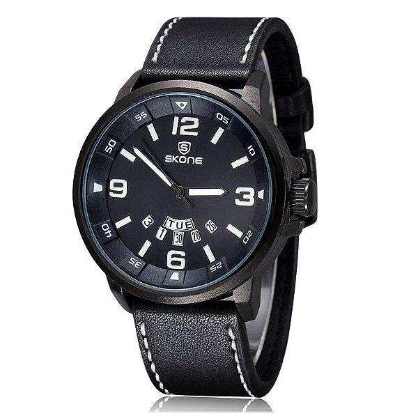 Relógio Masculino Skone Analógico CasualL 9345AG Preto