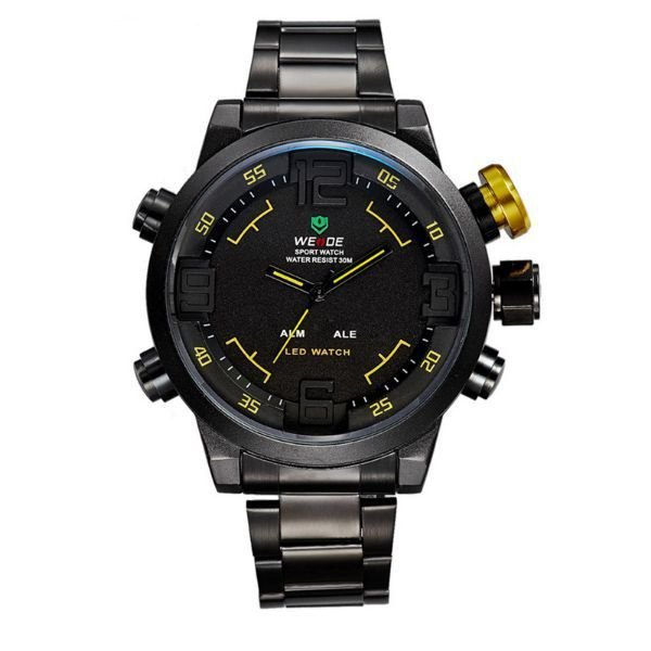 Relógio Masculino Weide Anadigi WH-2309B Amarelo