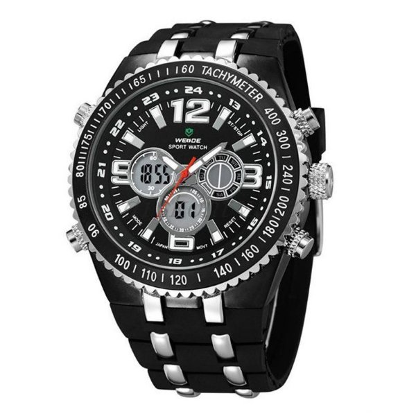 Relógio Masculino Weide AnaDigi Casual WH-1107 Preto