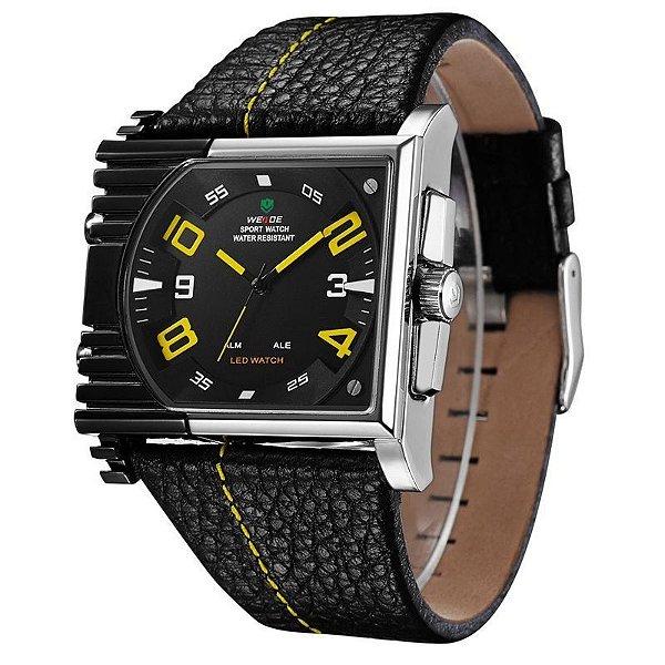 Relógio Masculino Weide AnaDigi Esporte WH-2301 Amarelo