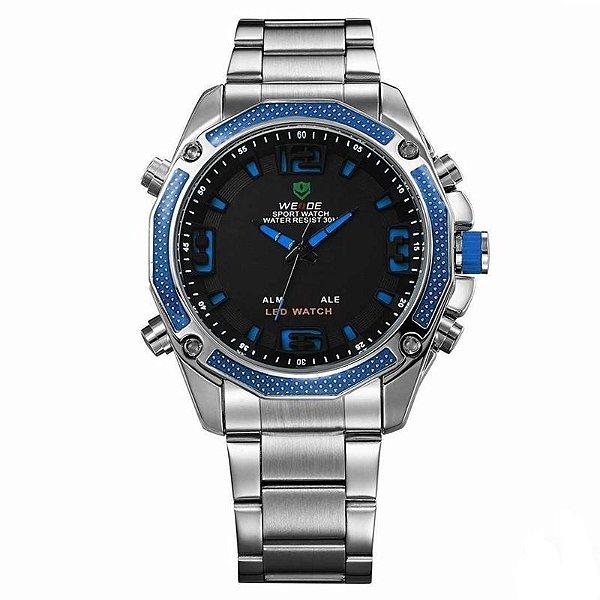 Relógio Masculino Weide AnaDigi Esporte WH-2306 Azul