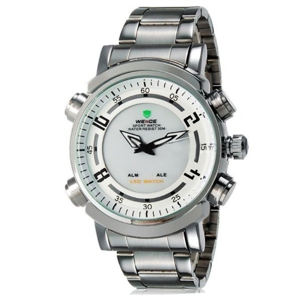 Relógio Masculino Weide AnaDigi Esporte WH-1101 Branco