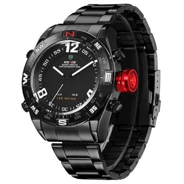 Relógio Masculino Weide AnaDigi WH-2310 - Preto e Branco