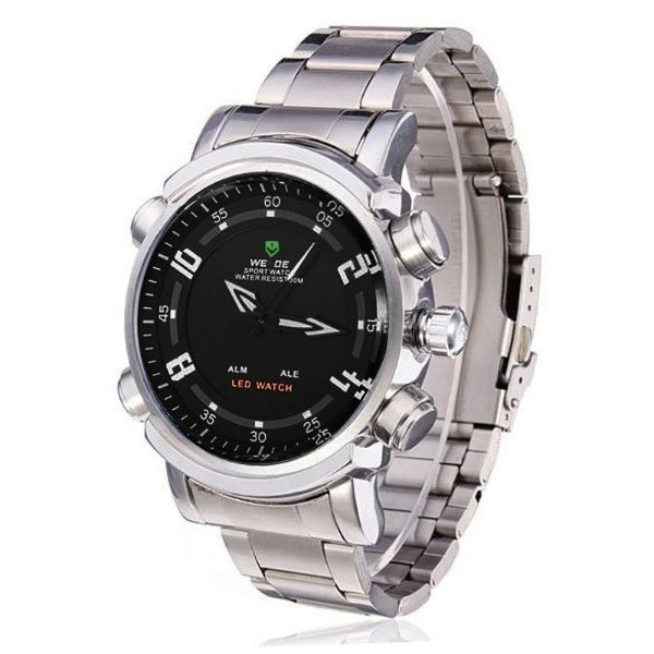 Relógio Masculino Weide AnaDigi Esporte WH-1101 Prata