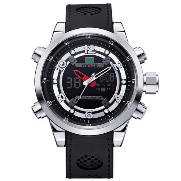 Relógio Masculino Weide AnaDigi Esporte WH-3315 - Preto e Prata
