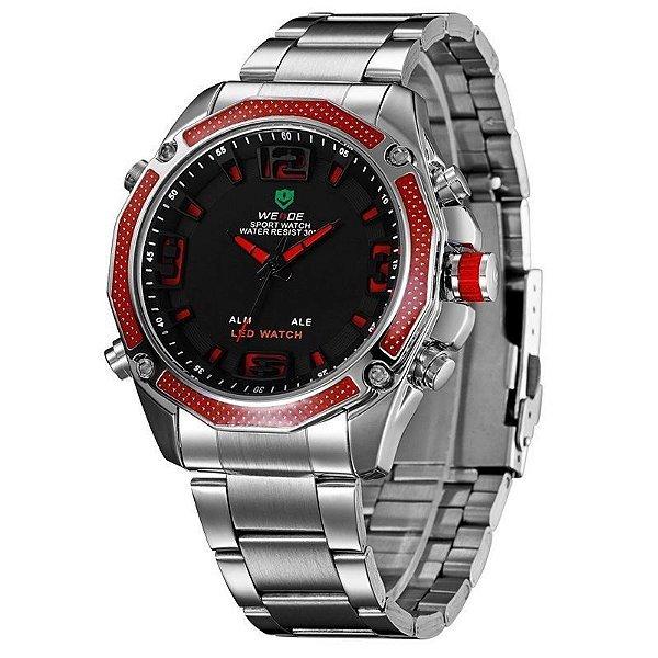Relógio Masculino Weide AnaDigi Esporte WH-2306 Vermelho