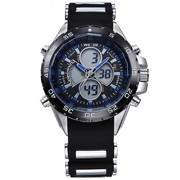 Relógio Masculino Weide AnaDigi WH-1103 - Preto e Azul