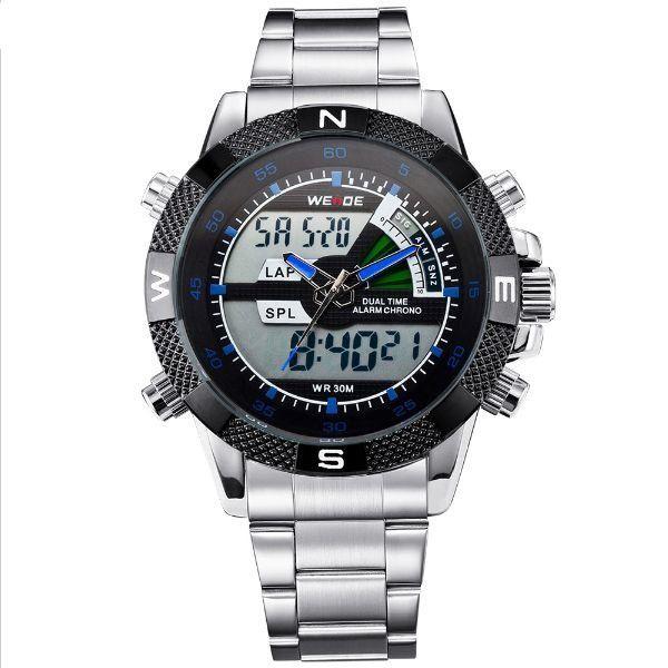 Relógio Masculino Weide Anadigi WH-1104 Azul