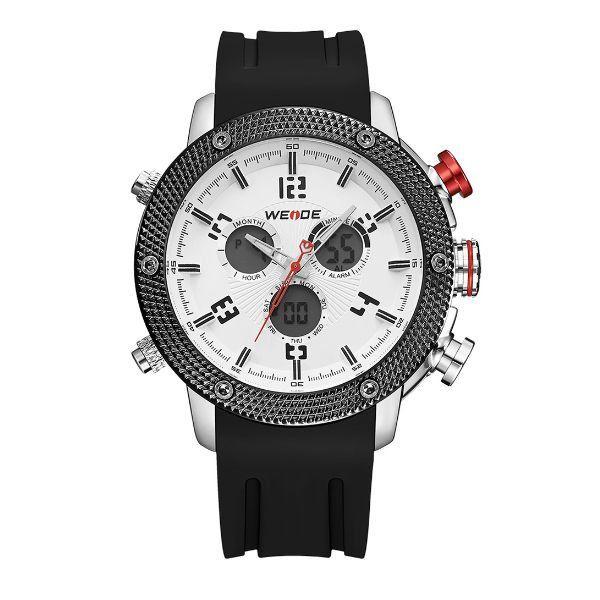Relógio Masculino Weide Anadigi WH-5206 Branco