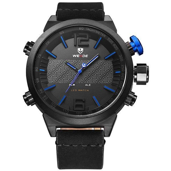 Relógio Masculino Weide Anadigi WH-6101 Azul