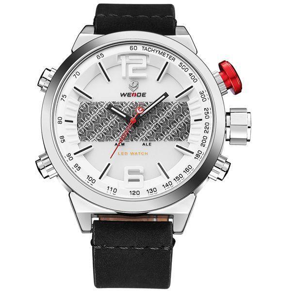 Relógio Masculino Weide Anadigi WH-6101 Branco