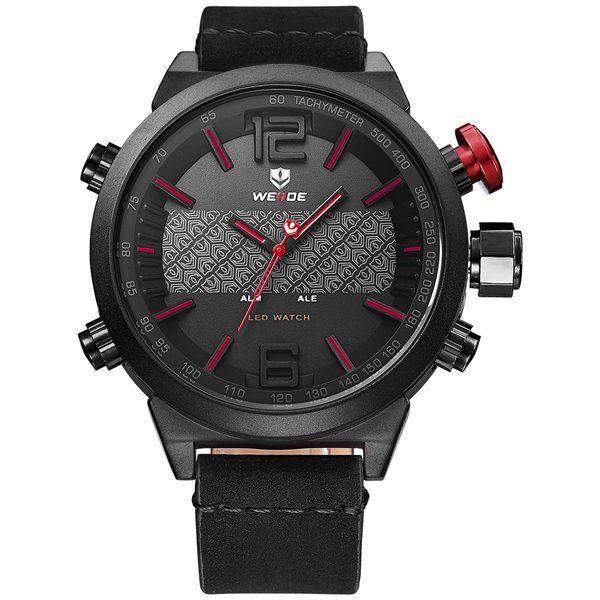 Relógio Masculino Weide Anadigi WH-6101 - Vermelho