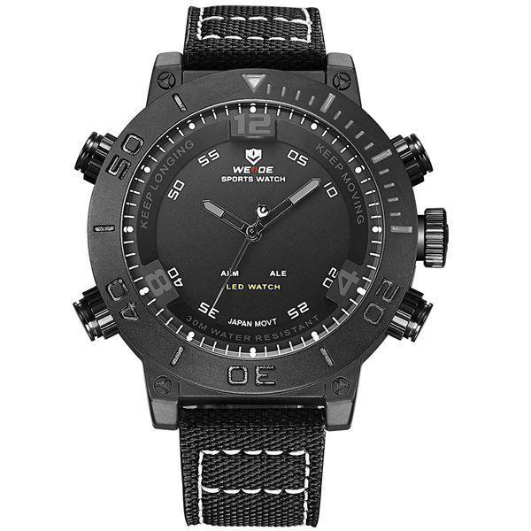Relógio Masculino Weide Anadigi WH-6103 Prata