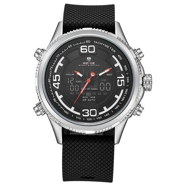 Relógio Masculino Weide Anadigi WH-6306 Prata