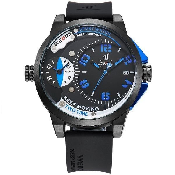 Relógio Masculino Weide Analógico UV-1501 - Preto e Azul