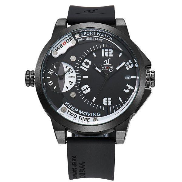 Relógio Masculino Weide Analógico UV-1501 Preto e Branco