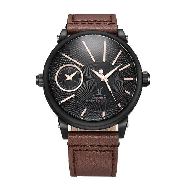 Relógio Masculino Weide Analógico UV-1508 Preto e Marrom