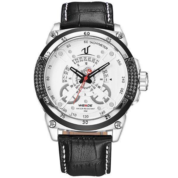 Relógio Masculino Weide Analógico UV-1605 - Branco