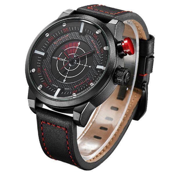 Relógio Masculino Weide Analógico WH-5201 - Preto e Vermelho