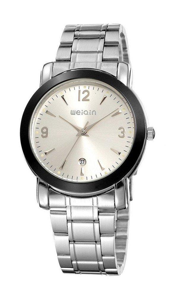 Relógio Masculino Weiqin Analógico W0074BG Prata
