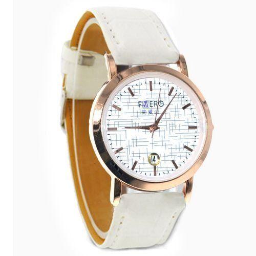 Relógio Unissex Kasi/Fmero Analógico Casual Y013 Branco