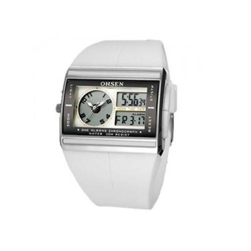 Relógio Unissex Ohsen AnaDigi Esporte AD0518 Branco