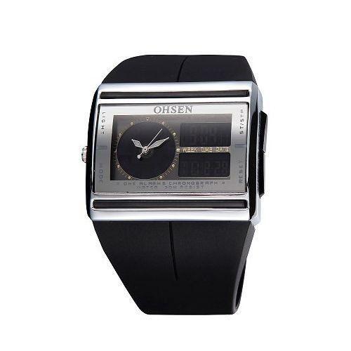 Relógio Unissex Ohsen AnaDigi Esporte AD0518 Preto