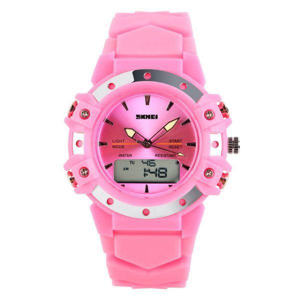 Relógio Feminino Skmei Anadigi 0821 Rosa