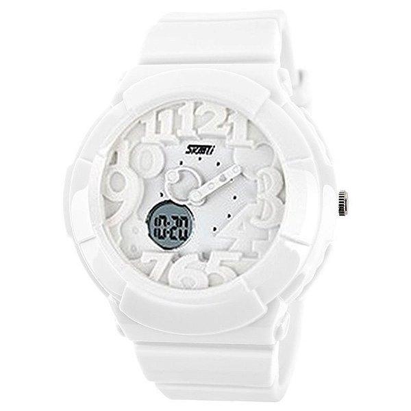Relógio Skmei Anadigi 1020 Branco