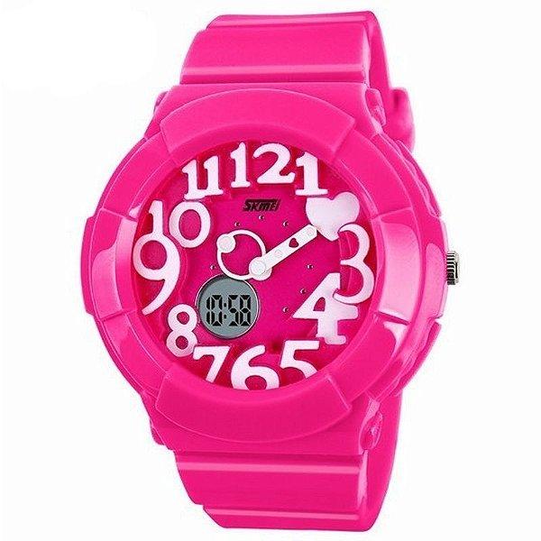 Relógio Feminino Skmei Anadigi 1020 Pink