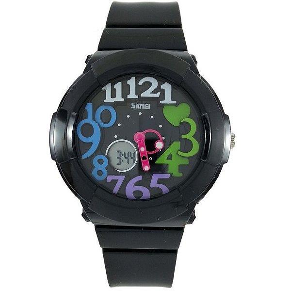 Relógio Feminino Skmei Anadigi 1020 Colorido