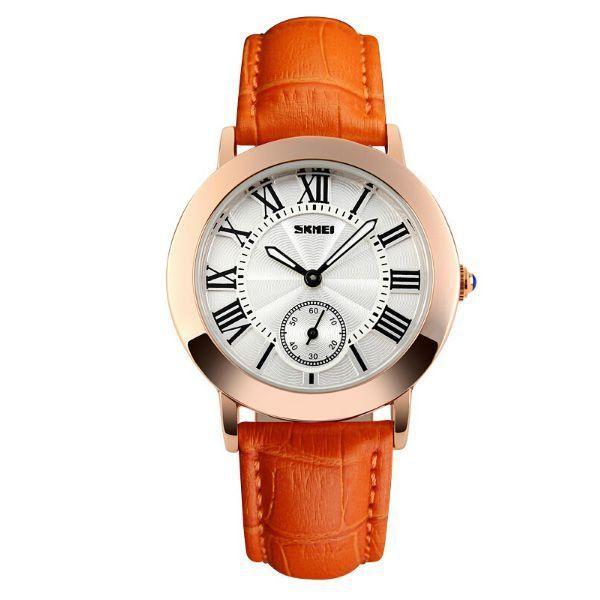 Relógio Feminino Skmei Analógico 1083 Laranja