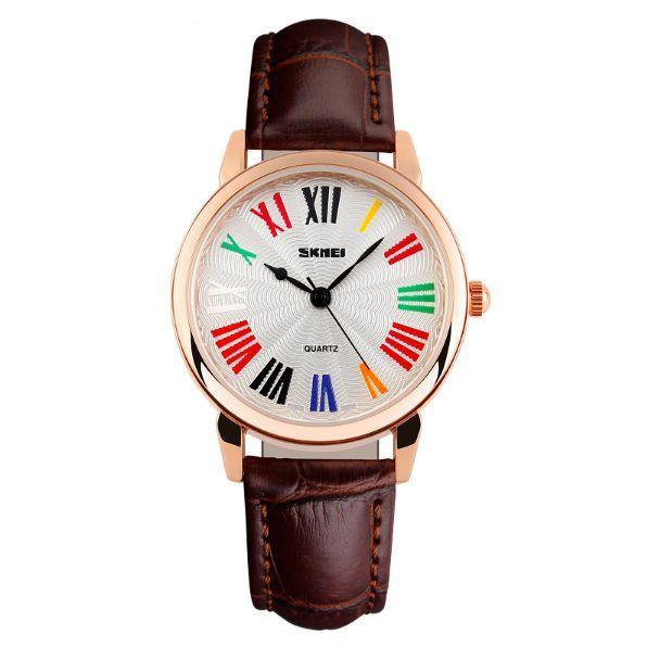 Relógio Feminino Skmei Analógico 1084 Marrom