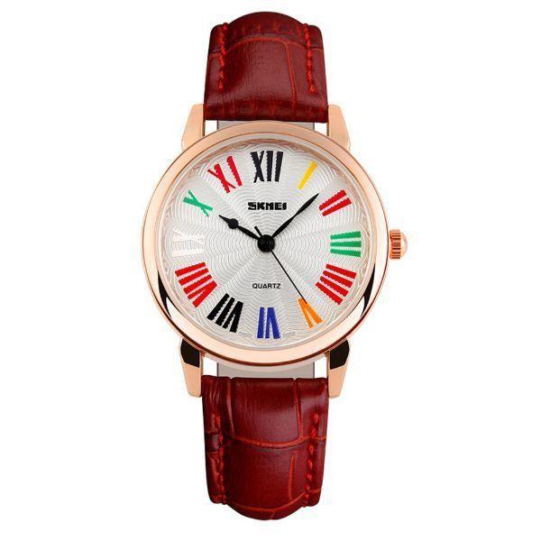 Relógio Feminino Skmei Analógico 1084 Vermelho
