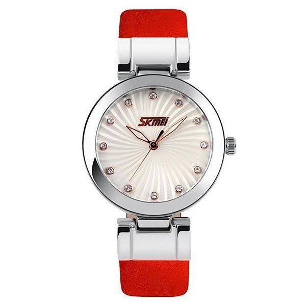 Relógio Feminino Skmei Analógico 9086 Vermelho