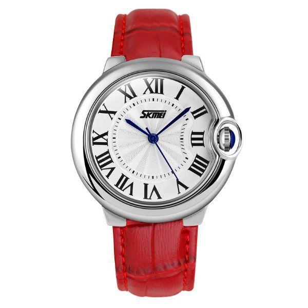 Relógio Feminino Skmei Analógico 9088 Vermelho