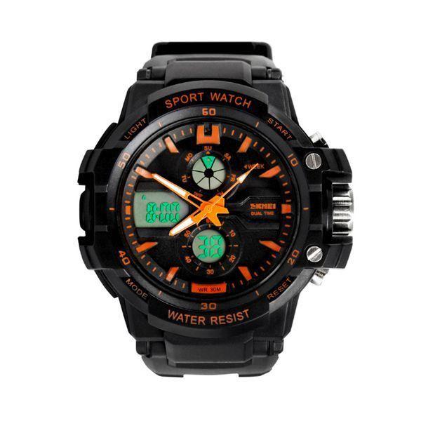 Relógio Infantil Skmei Anadigi 0990L Laranja