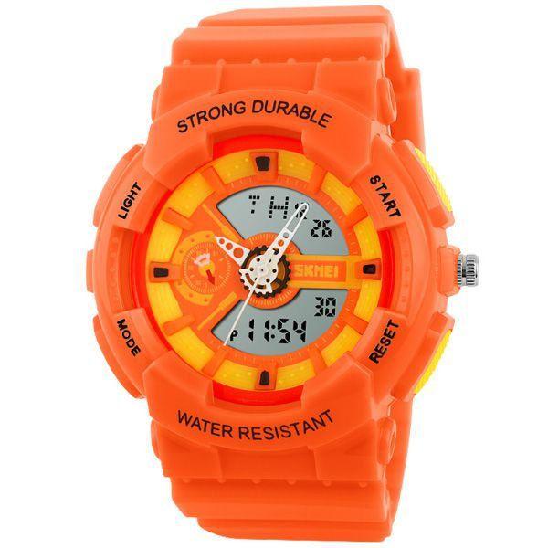 Relógio Infantil Menino Skmei AnaDigi 1052 - Laranja