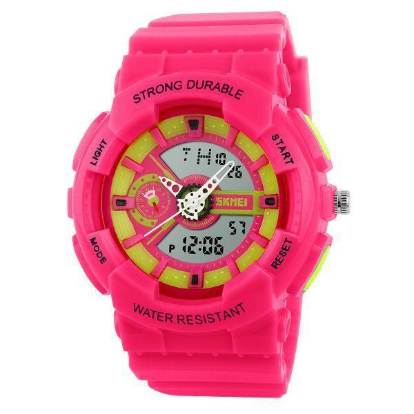Relógio Infantil Skmei Anadigi 1052 Rosa