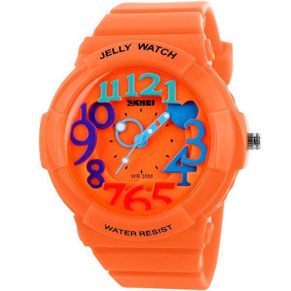 Relógio Infantil Skmei Analógico 1042 Laranja