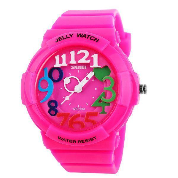 Relógio Infantil Skmei Analógico 1042 Rosa